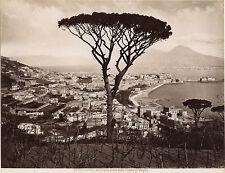 Italie Panorama de Monreale Morreale Photo Incorpora Vintage albumine ca 1880