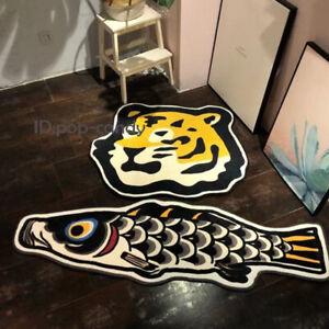 New A Bedroom Carpet VISVIM Tiger Koi Carp Rug Home Decoration Door Mat Floor