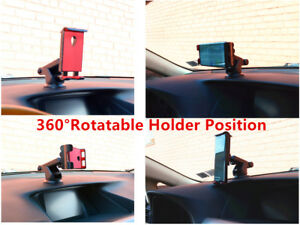 Car Windshield Dashboard Suction Cup Mount Holder for Cell Phone Tablets Blue