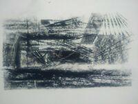 Rare beau dessin géometrique abstraction constructivisme années 40
