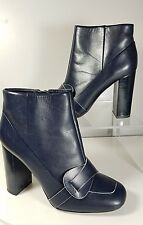 07a57a6779a5d sz 7 NEW  FLOOR TORY BURCH Ankle Bootie Boots Women s Bond Zip Heeled Navy  Blue