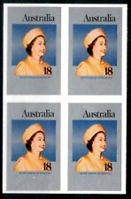 Australia 1977 18c Queen's Jubilee IMPERFORATE BLOCK OF 4 Mint Unhinged