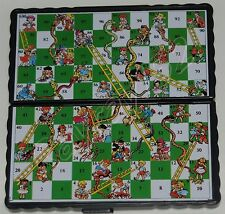 Mini Magnetic Travel Board Games Set of 4 Chess Ludo Snakes and Ladders Draughts