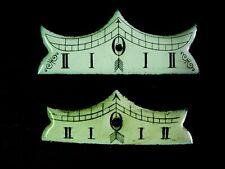 Lot 2 plaques émail niveau balancier horloge pendule regulateur wien Uhr clock 1