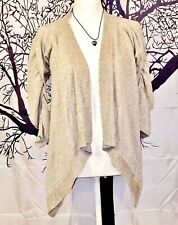 HOT KISS Woman Wrap LIGHT GRAY Knit Cover SHRUG Junior Sweater JACKET Top size S