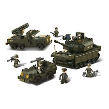 Tank With Jeep And Vehicle Sniper Machine Handgun SLUBAN