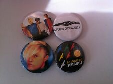 4 A Flock of Seagulls Pin Button badges 25mm Space Age Love Song I Ran Wishing