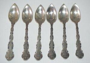 6Pc 1897 US Sterling Silver Grapefruit Spoon Lot Strasbourg Pat Gorham (JeK)#9