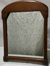 Vintage Wooden Arts And Crafts Style Table Top Mirror