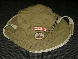 JANIE AND JACK GREEN BEIGE COTTON BUCKET SCOUT HAT BOY'S BABY TODDLER 12-18 MOS