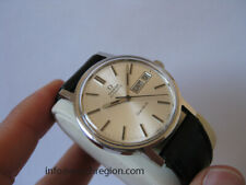 OMEGA GENEVE AUTOMATIC QUICK SET DAY DATE WATCH SILVER DIAL 35MM SERVICED MINT!!