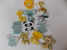 12 PRECUT edible wafer/rice paper Zoo/Jungle Animals cake/cupcake toppers