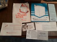 Vintage WHIRLPOOL WASHER Information Booklet, Laundry Guide, Warranty, APPLIANCE