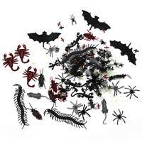 150X Fake Spider bat mouse Rubber Kids Children Toy Halloween Big Large Web  I