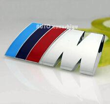 Auto Metall Schriftzug Aufkleber Emblem Plakette für BMW M Power Blau Rote Chrom