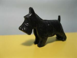 RARE Ideal BLACK SCOTTIE DOG Vintage Dollhouse Furniture Miniature 1:16 SCALE