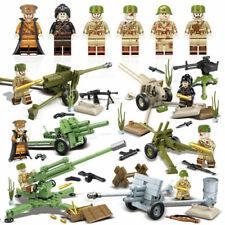 Minifiguras ww2 ejército soviético rusia, artillería militar, lego ® compatibles, nuevo