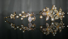 Braut Haarschmuck Kunstperle Perle Kristale Hochzeit Kommunion Kopfschmuck Typ2
