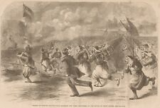 Battle Of Bethel. Charge Of Duryee's Zouaves. NY 5th. 1861 Antique Engraving