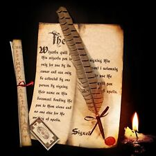 Harry Potter / Hogwarts style Spellwriting Quill pen (No Mess Ballpoint Nib)2015