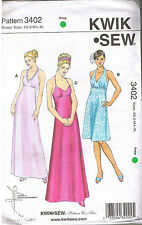 Empire Waist Halter Formal Evening Gown or Sun Dress Sewing Pattern XS S M L XL