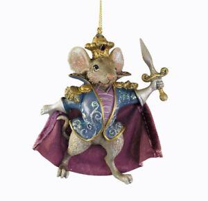 Nutcracker Suite Ballet Mouse King King Ornament Kurt Adler Resin New Purple