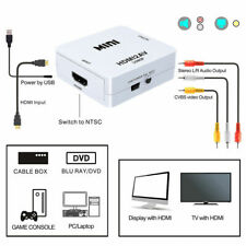 Composite 1080P HDMI to RCA Audio Video AV CVBS Adapter Converter for HDTV