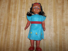 Vintage Native American Indian Doll, Plastic, 10 Inches