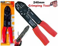 Multi Purpose Crimping Tool 240mm Computer Cutter Wire Hand Tool -Rolson Brand