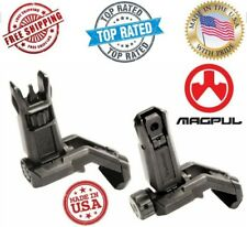 New Authentic MAGPUL MBUS Pro OFFSET Flip-Up FRONT & REAR Sight STEEL- Black