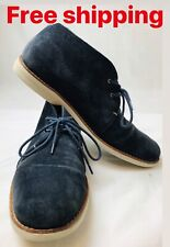 Mens Timberland Earthkeepers Anti-fatigue Suede Blue Leather Ankle Boots SZ 10.5