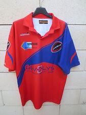Maillot rugby porté n°7 PANJAS A.C Black Lemon camiseta jersey shirt rouge L
