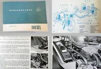 Mercedes Benz 300SEL /8 W109 Betriebsanleitung Original 1968 mit Motor M130