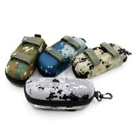 Portable Sunglasses Box Camouflage  Zippered Goggle Box Glasses Bag Case Outdoor