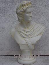 Büste Apollo Deko Figur Stuckgips Möbel Dekoration Kopf Säule Statue Crem 2020