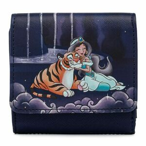 Loungefly x Disney Aladdin Agrabah and Jasmine Kisslock Tri-Fold Wallet