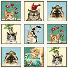 Curious Cats Tessuto Pannello Elizabeth Studio