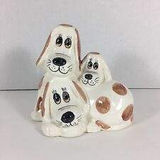Vintage Enesco Dog Bank 1982 3 Dogs