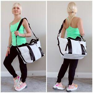 EUC Lululemon Return To Form Duffel Bag White Black