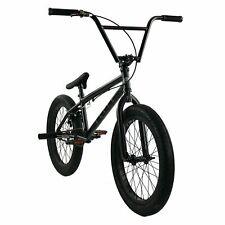 "Elite 20"" BMX DESTRO Bicycle Freestyle Bike 3 Piece Crank Black Grey 2019"