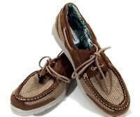 Tommy Bahama On Par Spectator Brown Lace Up Deck Boat Loafers Shoes Men's 13