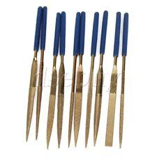 10pc 140MM x 3MM Diamond Coated Needle File Set Titanium for Filing Cutting Tool