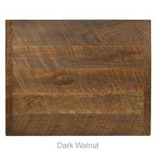 "New 30"" Square Economy Urban Distressed Table Top in Dark Walnut"
