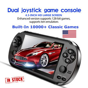 8GB 4.3'' Retro Handheld Game Console Portable Video Game Built-In 10000+ Games