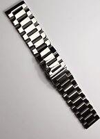 22 mm Massives Edelstahl Uhrenarmband Ersatz Uhr Armband Steel Band Neu 2-wahl