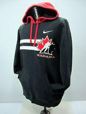 Nike Team Canada Hockey Pullover Hoodie Men's S Black Red