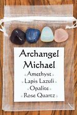 Archangel Michael Crystal Gift Set Amethyst Lapis Lazuli Opalite Rose Quartz