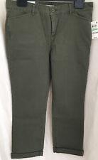 Charter Club Petite Tummy-control Olive Capri Pants US Size 8/UK12