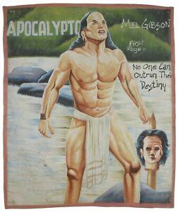 Ghana Movie hand painted poster African Art cinema Flour Sack Decor APOCALYPTO