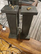 More details for wooden speaker stands 56cm height, heavy